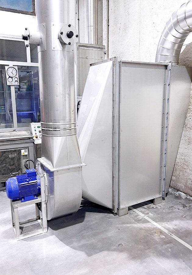 Suction and filtration plants