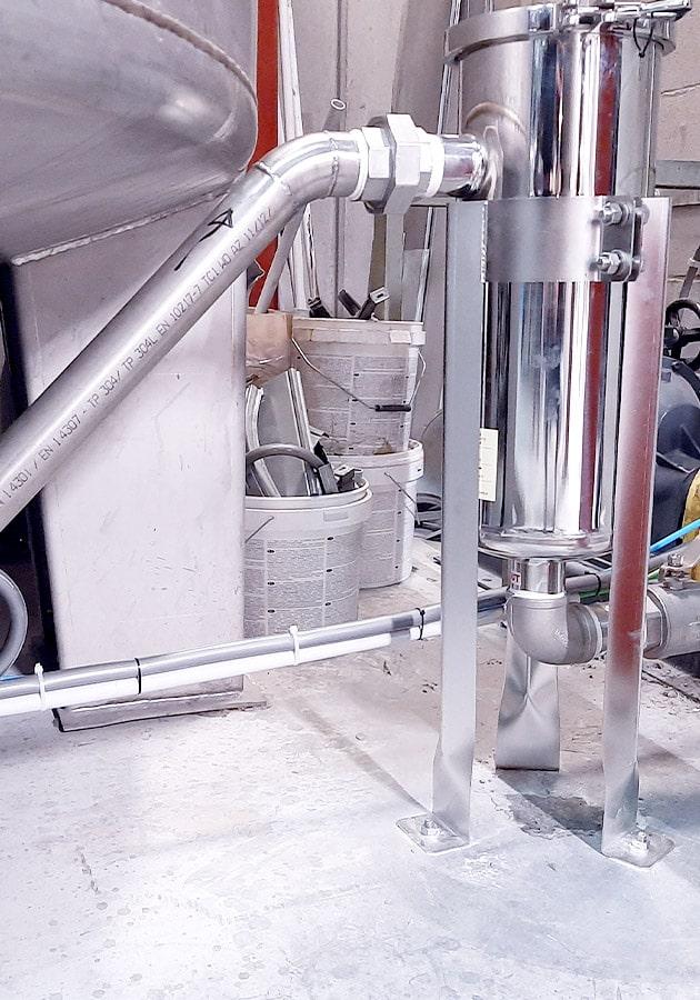 Trasporti pneumatici per liquidi